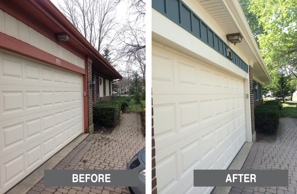 Before-&-After---Siding---ss-red-garage