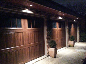Before-&-After---garage-doors---oakbrook-night
