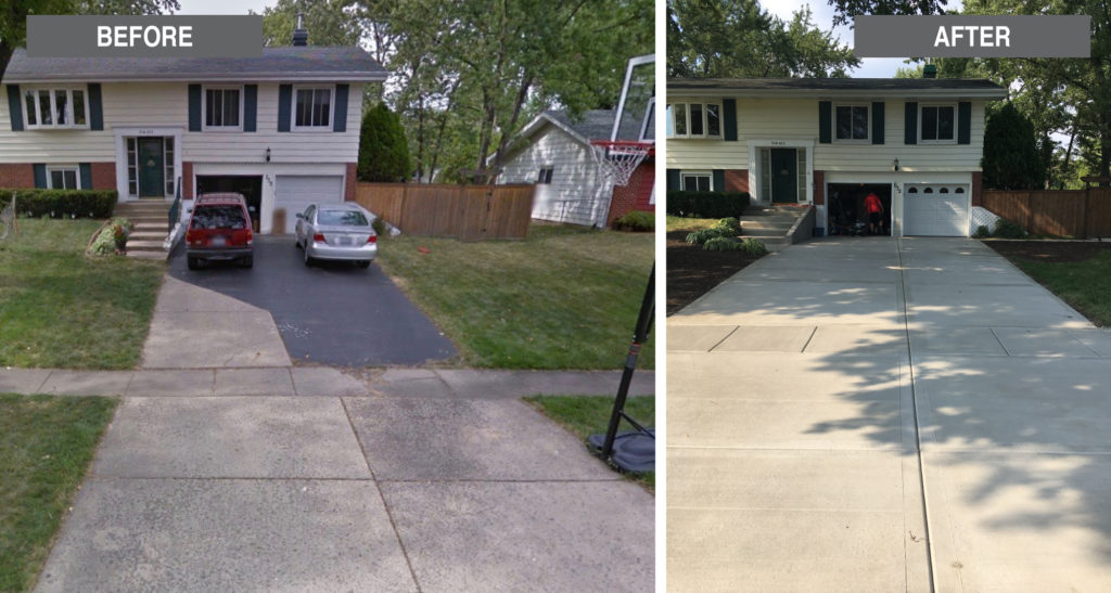 Great-American-Exteriors---before-and-after-concrete-garage